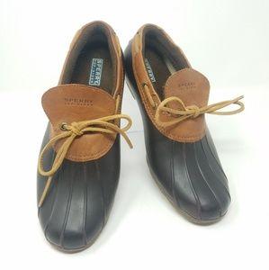 Sperry Top-Sider Women's Slip-On Duck Shoe- Brown